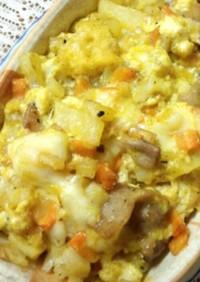 豆腐と食パンdeキッシュグラタン