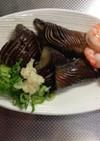 広島茄子とインドネシア海老のコラボ煮浸し