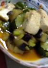 キムチの素で野菜揚げ浸し☆冷製麻婆豆腐風
