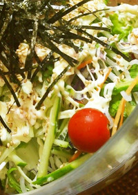 ♡たっぷり野菜乗せサラダうどん♡