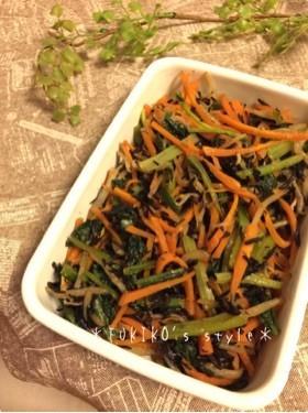 簡単常備菜!三色野菜とひじきのナムル