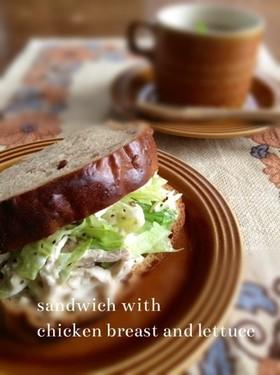 しっとり鶏ハムのサンドイッチ