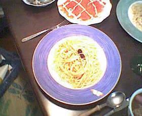 うにクリームスパゲッティ