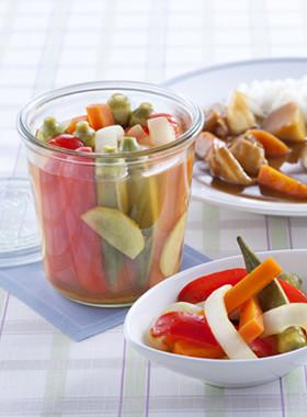 【ストック】夏野菜のスティックピクルス
