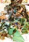 【10品目のサラダ】蒸し鶏のサラダ蕎麦。