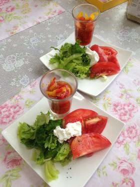 オシャレな簡単レタスサラダ