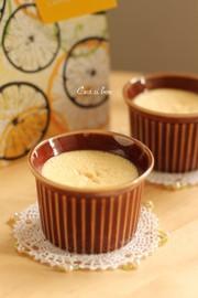 オレンジ風味のクリームチーズプリンの写真