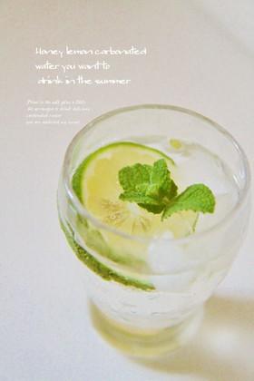 夏に飲みたい♡はちみつレモン炭酸水