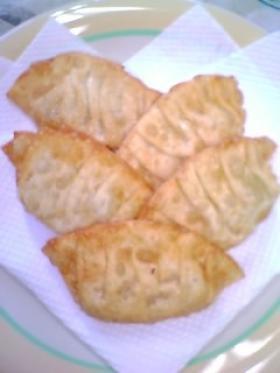 柿とチーズの揚げ餃子♪