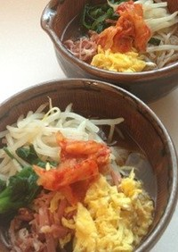 おうちにあるものでスープも☆韓国風冷麺