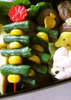 いんげん&コーンdeお弁当の彩りピック