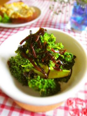 お弁当の隙間に♪ブロッコリー+塩昆布