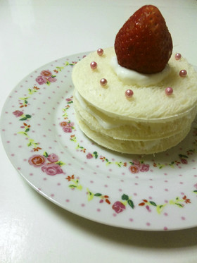 簡単食パンケーキ