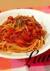 トマトと舞茸キャベツのパスタ