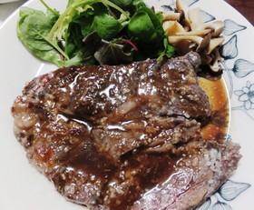安いお肉で!柔らか塩麹ステーキ