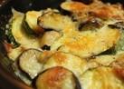 なすとズッキーニと完熟トマトのチーズ焼き