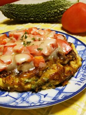 イタリアンチック☆ゴーヤの豆腐お好み焼き