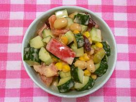 ビタミン&タンパク質チャージ☆豆サラダ