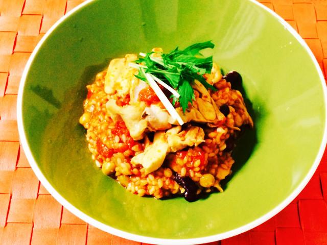 簡単×男子料理:鶏もも肉のトマトリゾット