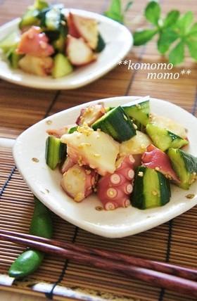 ◆タコきゅうり◆ にんにく生姜醤油和え