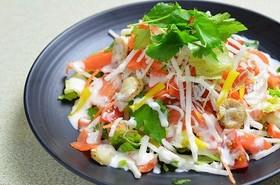 W大根!たくわんぽりぽり海鮮サラダ