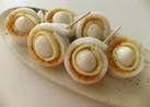 うずらの卵とチーズの竹輪巻き