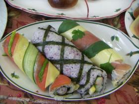 クリスマスなど年末年始のバーティには洋風ロール寿司