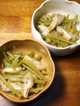 さつま芋の茎の炒め煮