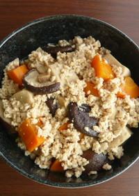 高野豆腐の煮物 鶏そぼろあんかけ