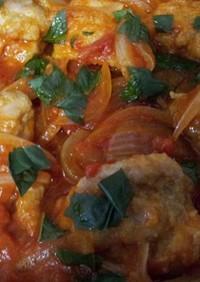 鶏肉のトマトバジル煮