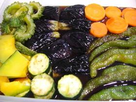 黒酢で!夏野菜の揚げびたし