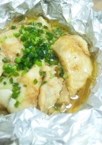 カレイのホイル焼き(バター醤油)