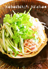 冷やし担担麺風☆汁なし胡麻だれ麺