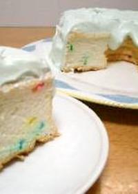 レインボーエンゼルフードケーキ