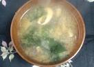 生椎茸とわかめの味噌汁