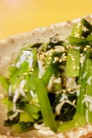 小松菜としらすの和え物の写真