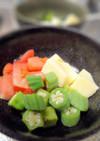 ちょっと一手間★トマトとオクラと卵豆腐