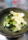 ちょっと一手間★きゅうりと卵豆腐の合わせ