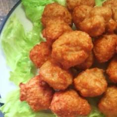 簡単!節約!鶏ひき肉と豆腐のカラアゲくん
