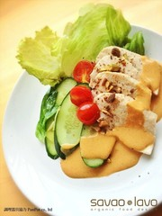 エジプト塩で☆茹で鶏とレタスのカレー炒めの写真