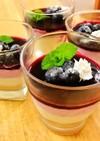 ブルーベリームースのレアチーズケーキ