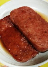 スパムの照り焼きステーキ