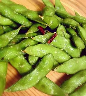 5分おつまみ♪やみつき枝豆ペペロンチーノ