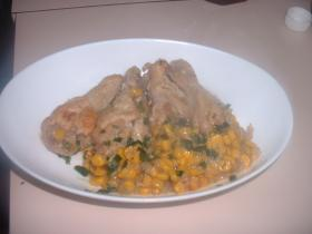 チキンのコーン煮