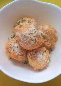 簡単!鶏ひき肉と豆腐カラアゲくんチーズ味