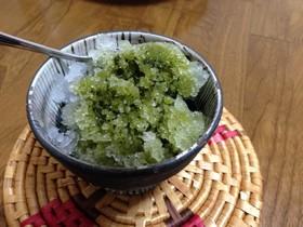 超☆簡単!抹茶かき氷シロップ(低カロ)