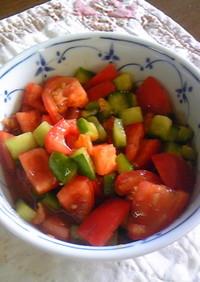 トマトときゅうりのわさび醤油
