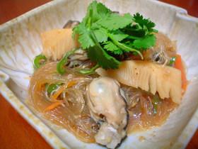 ☆牡蠣と春雨のオイスターソース煮☆