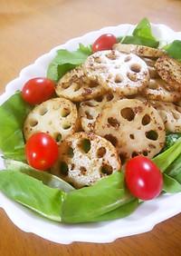 蓮根のマヨソテー 粒マス&バルサミコ風味