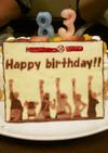 仲間の印✖!! ワンピースキャラケーキ
